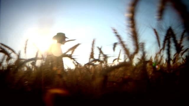 farmer walking in the field