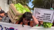 Farmers give away 20 tonnes of vegetables in the Plaza de Mayo in Buenos Aires in protest on Monday demanding attention from the government after...
