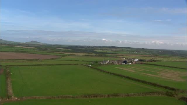 AERIAL, Farmland and St David's, Pembrokeshire, Wales