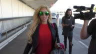 INTERVIEW Farrah Abraham talks about if her daughter drinks weight watchers or not while departing at LAX Airport in Los Angeles in Celebrity...