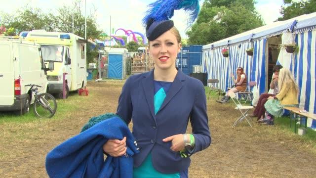 ATMOSPHERE Fashion at Glastonbury Festival General Views at Glastonbury Festival Site on June 27 2014 in Glastonbury England