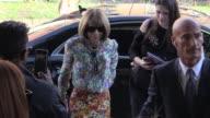 Fashion icon Anna Wintour arrives at the Alberta Ferretti Ready to Wear Spring Summer 2018 Fashion Show in Milan Wednesday September 20 2017 Milan...