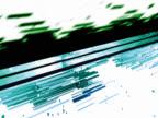 Fast Flowing Geometric Lines. Internet, Multimedia Effect