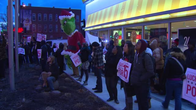 Fast Food Workers Go On Strike Fast food workers in 100 US cities went on strike to protest for higher wages and the right to unionize Fast Food...