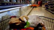 Fast motion supermarket trolley