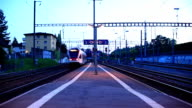 fast train passing station