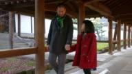 Vader en dochter lopen samen