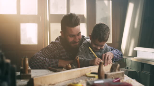 Father and son carpenters