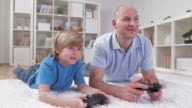 HD DOLLY: Father And Son Playing Video Games