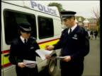 Father of Charlene Lunnon speaks out ITN ENGLAND Sussex Hastings Police officers holding pictures of missing girls