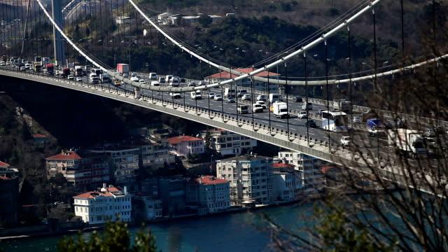HD: Fatih Sultan Mehmet Bridge,  Istanbul, TURKEY