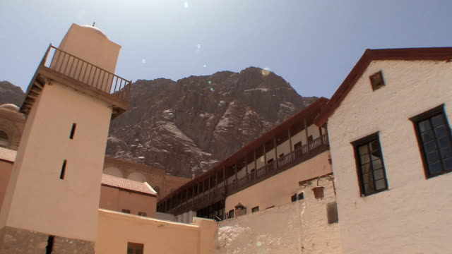 WS LA PAN Fatimid Mosque and Basilica of Transfiguration in St Catherine's Monastery, Mount Sinai, Egypt