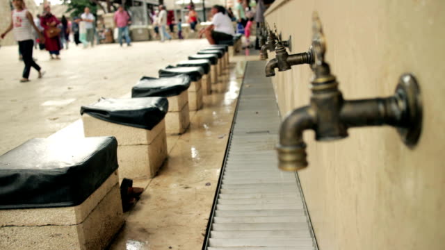 Faucets for ablution in Istanbul