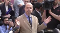 Fawzi Haffar a trustee at the Manchester Islamic Centre and the Didsbury mosque speaks to the media outside Didsbury Mosque in Manchester on May 24...