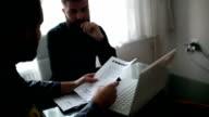 Fbi agent and businessman talking