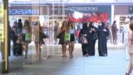 5 Höfe, Passage, Center, people, stores, Swarovski in background