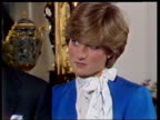February 24 1981 MS Prince Charles and Lady Diana talking to the press shortly after announcing their engagement/ ZI Diana talking/ ZO MS Charles and...