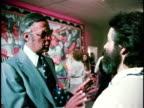 February 26 1974 MONTAGE Opening celebration of exhibition 'Los Four Almaraz de la Rocha Lujan Romero' at Los Angeles County Museum of Art California...