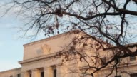 Federal Reserve Building exterior side angle trees Federal Reserve Building on January 29 2013 in Washington District of Columbia