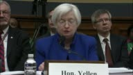 Federal Reserve Chair Janet Yellen tells the House Committee on Financial Services that the Federal Open Markets Committee closely monitors global...