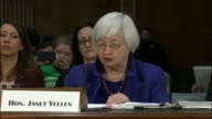 Federal Reserve Chair Janet Yellen testifies during a semiannual report on the monetary policy to the Senate Banking committee that the economy has...