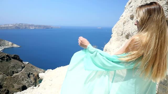 Gevoel ondeugende op Santorini