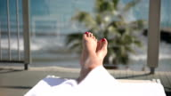 Feet up on the balcony with sea view