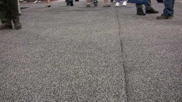 Feet walking by HD