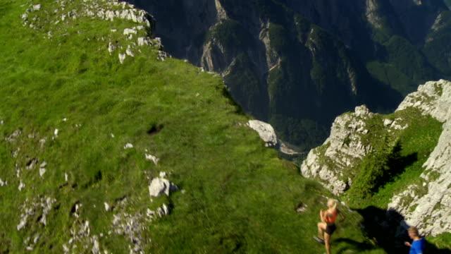 HD: Fell Runners On A Mountain Ridge