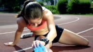 HD SUPER SLOW-MO: Female Athlete Warming Up