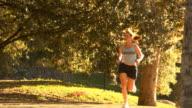 Female autumn runner