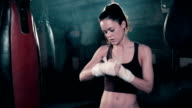 MS Female Boxer Training.