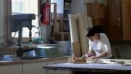 Female Carpenter In Workshop