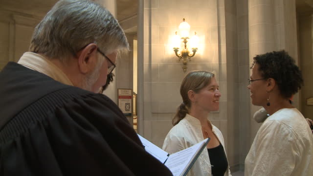 MS Female couple marries at City Hall/ San Francisco California/ AUDIO