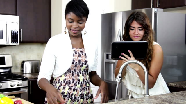 Female friends in the kitchen