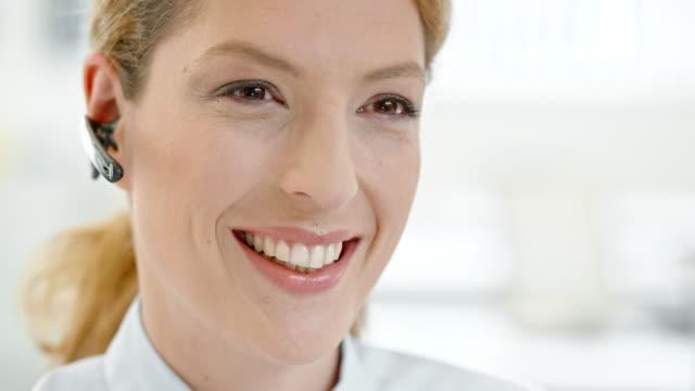 TU Female helpline operator talking to customer