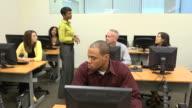 Female Instructing Adult Students