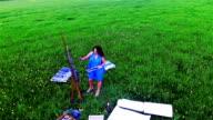 female landscape painter