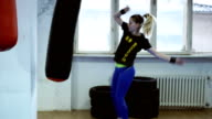 Female leg kickboxing