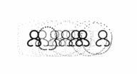 USERS - female, pure black dots (LOOP)