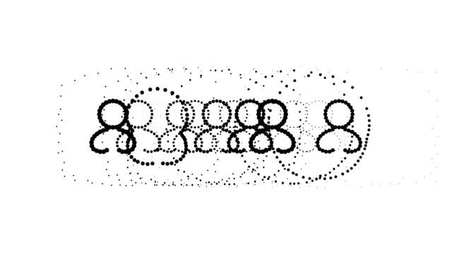 Benutzer-weiblich, pure schwarzen Punkten (Endlosschleife)