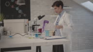 Female Researcher In Her Lab.