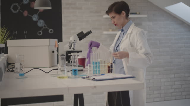 Female Researcher In Her Lab.
