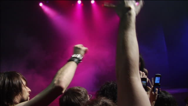 WS Female rock & roll singer performs on stage for enthusiastic fans / Buenos Aires,  Argentina