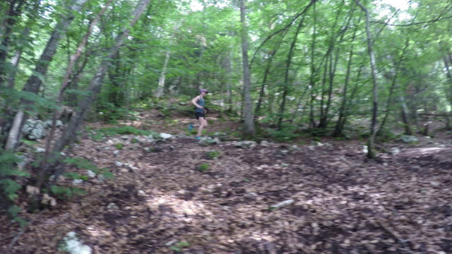 Female Running in the forest