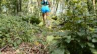 TU Female running through the forest