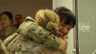 Female Soldiers Returning Home from War on March 21 2012 in Baltimore MD