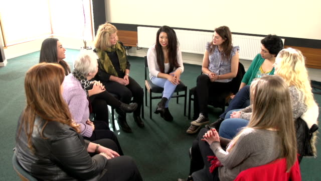 Female Support Group Circle - Women sharing
