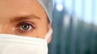 Weibliche Chirurg Gesicht