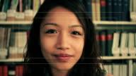 Weibliche sprechen auf webcam